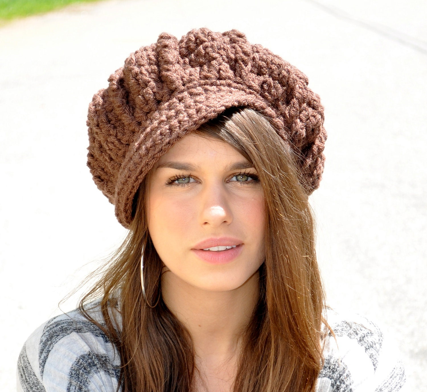 brown newsboy hat s winter accessories chocolate