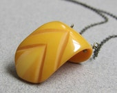 Vintage Bakelite Pennant Necklace