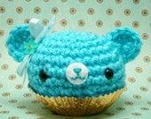 Amigurumi Turquoise Cupcake Bear