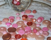 Vintage Pink Buttons-80 plus