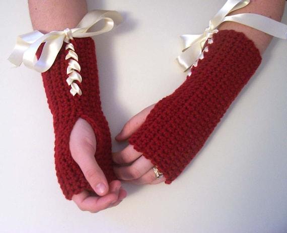 Rojo, Mi Amor-Fingerless Gloves