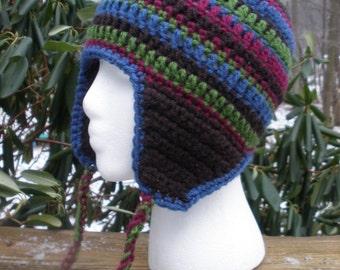 Crochet Raies Hat with Earflaps PDF Pattern