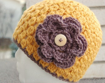Crochet Hat Pattern - Beanie Cloche with Flower - Jenny Lee. Instant Download