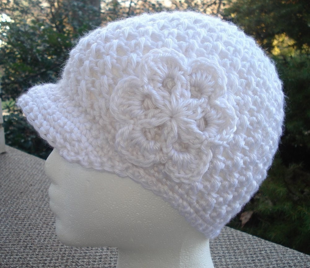 Free Crochet Hat Patterns To Download : Crochet Newsboy Hat Pattern. Download to Make a Beanie