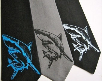 Great White Shark Silk Tie