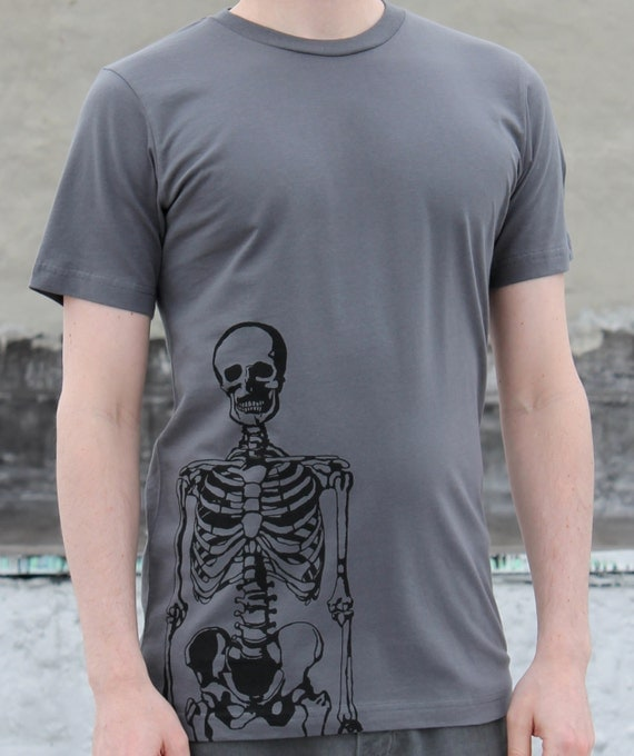 Men's Skeleton T-Shirt Charcoal