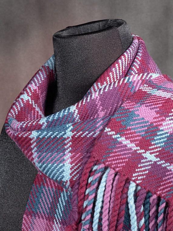 handwoven winter wool scarf