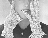 1950 Lacy Bridal Gloves Vintage Crochet Pattern PDF Instant Download 270