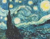 The Starry Night by Vincent van Gogh Counted Cross Stitch Pattern PDF 097