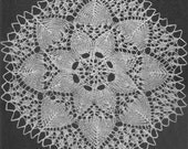 1951 Sunflower Doily Vintage Knitting Pattern Instant Download PDF 023