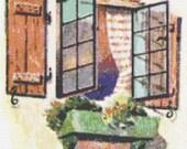 The Window Counted Cross Stitch Pattern PDF 107