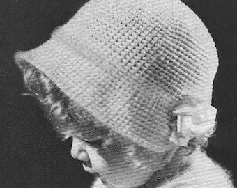 INSTANT DOWNLOAD 1935 Baby Poke Bonnet Vintage Crochet Pattern PDF 337