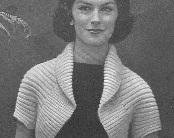 1950's Simple Shrug Vintage Knitting Pattern PDF Instant Download 137