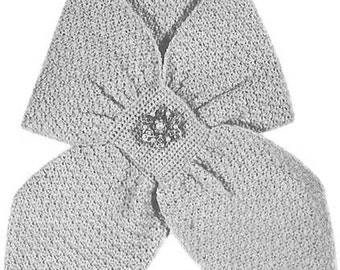 1955 Shell Stitch Ascot Scarf Vintage Crochet Pattern PDF Instant Download 420