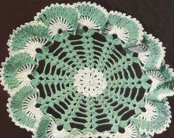 INSTANT DOWNLOAD 1950's Sea Shells Ruffle Doily Vintage Crochet Pattern PDF 430