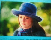 felted hat pattern scarf knitting knitted