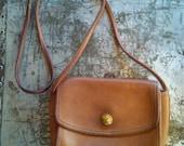 Vintage Coach British Tan crossbody bag