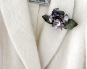 60s Winter White Coat - Bullock's Wilshire - Vintage Fleurette - Small to M