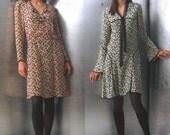 Anna Sui Vogue 2820 Dress Sewing Pattern American Designer V2820 18, 20, 22 Complete Uncut Dress Patterns V2820