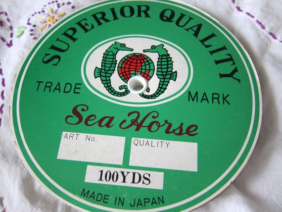 White Satin Ribbon Roll - 100 Yards - Vintage Sea Horse Brand - Double Faced - Japanese Yardage Fabric Trim