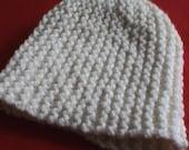 Chunky Merino White Hat