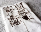 coffee lover floursack tea towel
