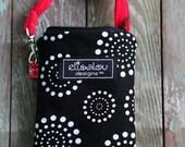 Padded Gadget Pouch iPhone Blackberry Flip Camera Cellphone iPod Touch Bag Spiral Dot