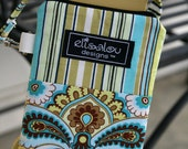 French Wallpaper Padded Gadget Pouch iPhone5, cellphone, camera, iPod Touch