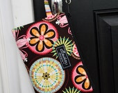 Carnival Padded wristlet mini purse, iphone, ipod, cell phone, camera bag