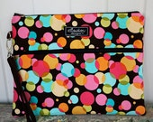 Kindle / iPad Mini / Nook, e-Reader / Wristlet / Padded Pouch / Chocolate Bubbles