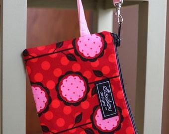 Mod Bloom Padded Wristlet, small purse, ipod, cellphone, camera, iphone