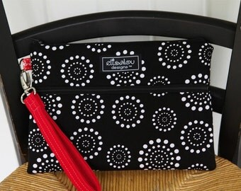 Kindle / iPad Mini / Nook / Sony / eReader / Padded Bag Pouch- Spiral Dot