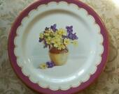 Baret Ware Primroses and Violets Charger Plate
