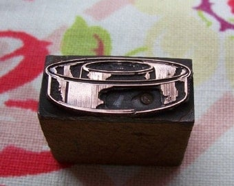 Cake Pan Vintage Letterpress Printers Block Ring Mold Tube
