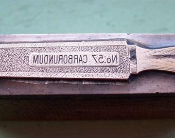 N0. 57 Carborundum Stone Antique Letterpress Printers Block