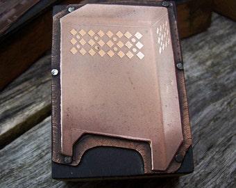 Radiator Cover Vintage Letterpress Printers Block