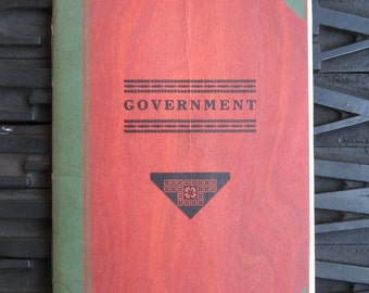 Government by Frank Teipe Kleber 1932 Letterpress Treasure