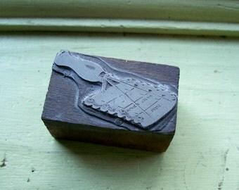 Eclipse Horse Curry Comb Antique Letterpress Printers Block