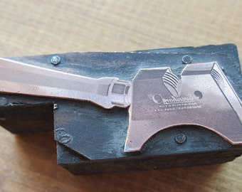 Vintage Letterpress Printers Block Eversharp Knife Sharpener