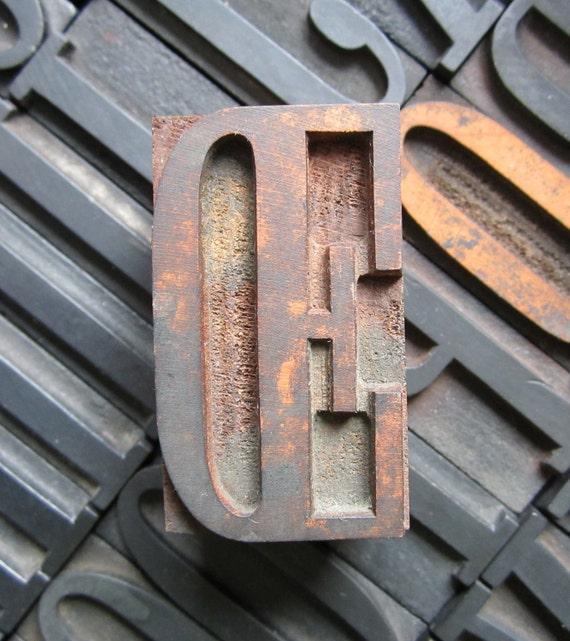 Letterpress Wood Type Printers Block OE Ligature