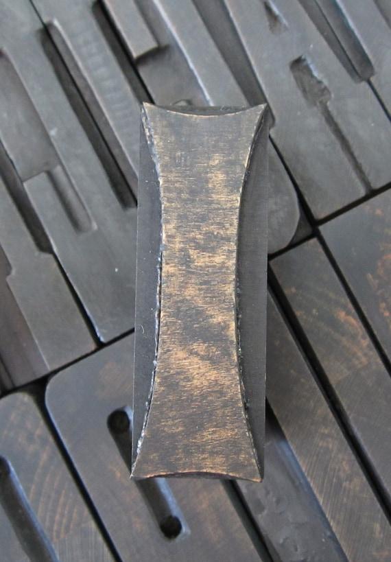 Antique Letterpress Wood Type Printers Block Letter  I