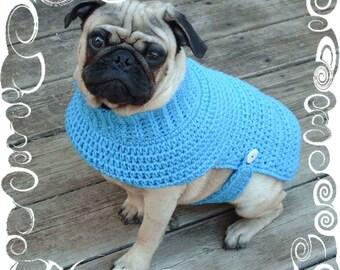 Dog Sweater Crochet Pattern - Puppy Crochet Sweater Pattern - Crochet Pattern - Dog Sweater Pattern - Instant Download