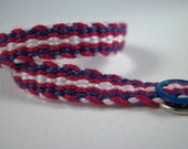 Woven By Hand Friendship Bracelet, Red White and Blue, Patriotic Bracelet, USA