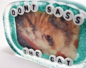 Don't Sass the Cat - Art for Your Shower
