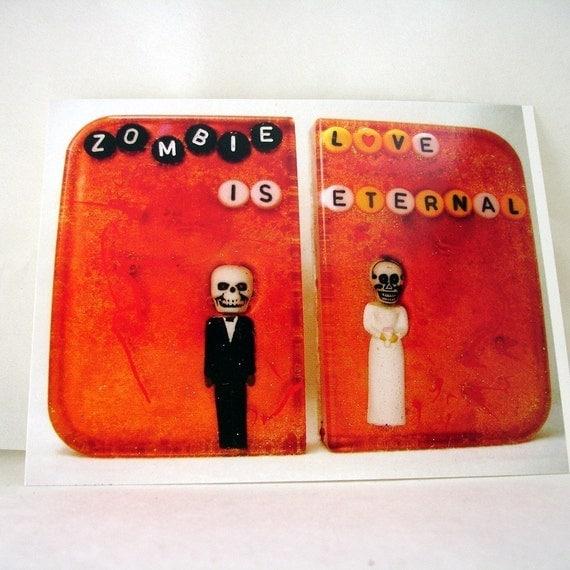 Postcard - Zombie Love is Eternal