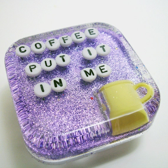Waterproof Art for Your Shower - Coffee: Put it in Me