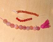 Orange and pink stones