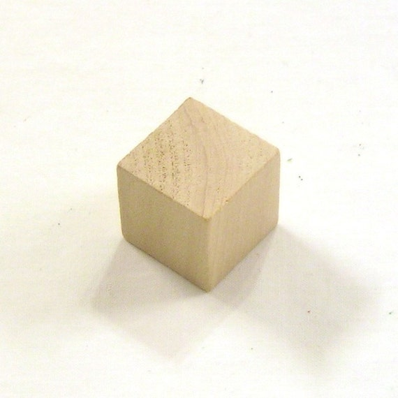 Inch unfinished maple wood cubes blocks