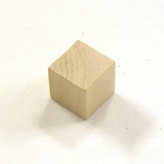 3 4 inch unfinished maple wood cubes 100 blocks by turnedabout for Plain wooden blocks for crafts