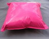 Funky 80s Hot Pink Lipstick Wet Pleather Throw Pillow